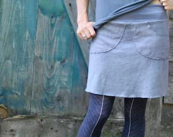 Perfect Pocket Skirt-Short Length-Hemp/Organic Cotton Fabric
