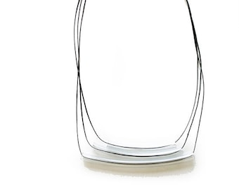 Geometric minimal Necklace- Ladder necklace- 3 lines- swing- under 25