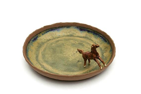 Serveur de glace dorée - fait à la main en céramique, poterie