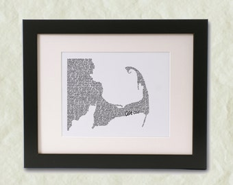 Cape Cod Word Art Print