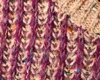 Vintage ERIKA Sweater Size M Sweater Vest Striped Sweater Purple Heathered Gray