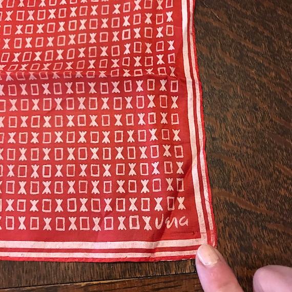 Very Early Vintage VERA Scarf VERA Neumann Silk Sm