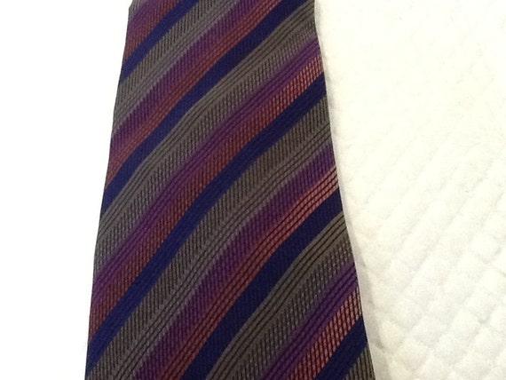 Vintage MISSONI Tie Missoni Silk Tie Purple Pink G