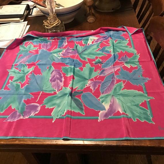 Vintage VERA Scarf VERA Neumann Scarf Pink Blue Pu