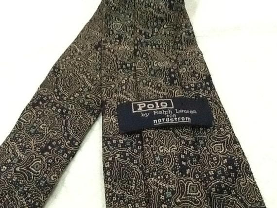 Vintage POLO RALPH LAUREN cravate Nordstrom cravate en soie cravate bleue  Design graphique 8e2435d4a15