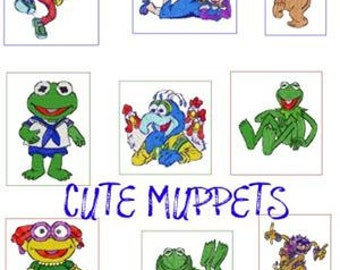 28 muppet embroidery designs  instant download