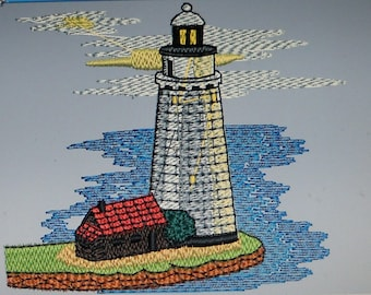 140 lighthouses embroidery designs  instant download