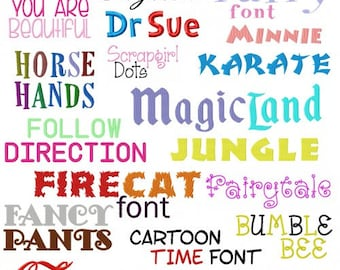 Fairy font embroidery designs  instant download
