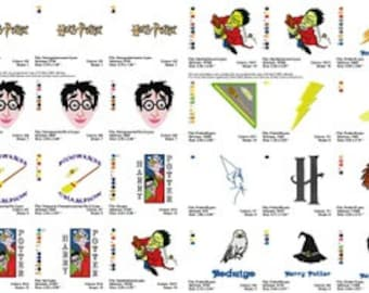 60 harry potter embroidery designs instant download