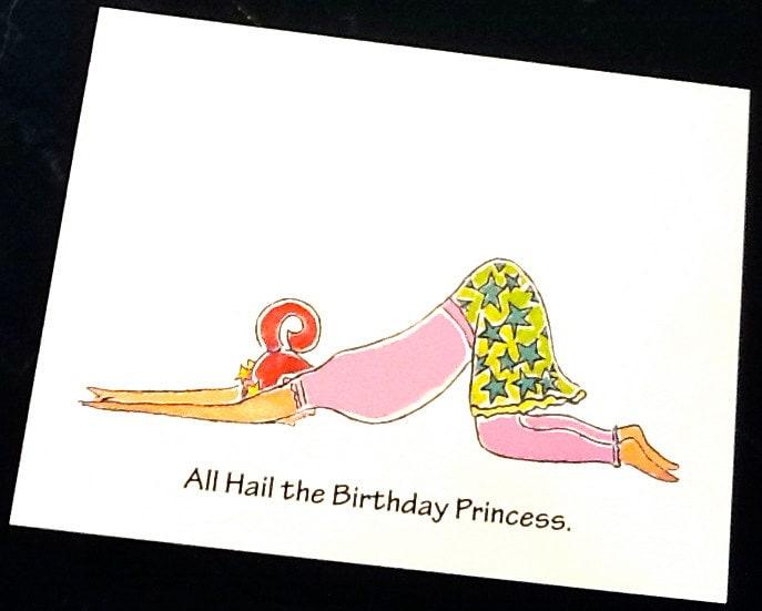 Birthday Princess Yoga Greeting Card