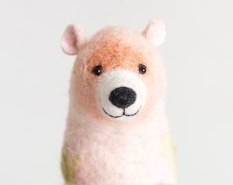 Felt  Bear - Luana. Art Toy,  Puppet Grizzly bear. Marionette  Stuffed  Animals Felted Toy. stuffed toy, gift for kids, plush toy Bear
