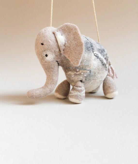 Babar Felt Elephant Art Toy Puppet Marionette Felt Etsy