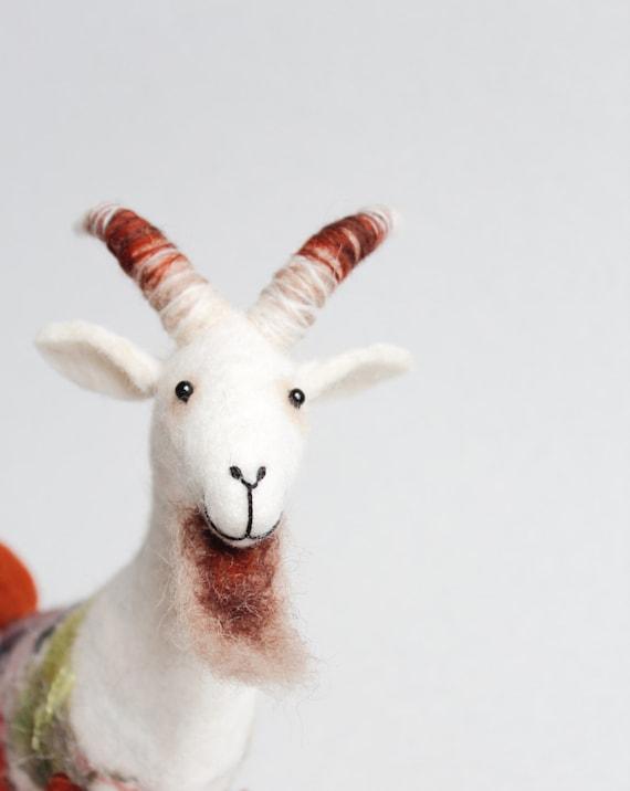 Sentido cabra Friedrich. Animales fieltro marioneta del | Etsy