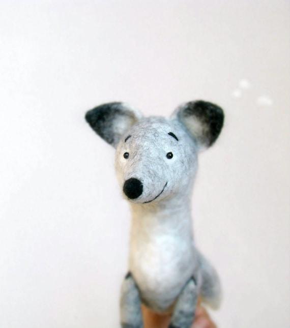 Silver Fox Stuffed Animal, Felt Toy Silver Fox Antuon Art Toy Fox Plush Felted Fox Etsy