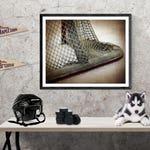 Hockey Goal lower corner Photographic art Print, Boys Room decor, Boys Nursery Ideas, Sports art, Sport Prints, Man Cav