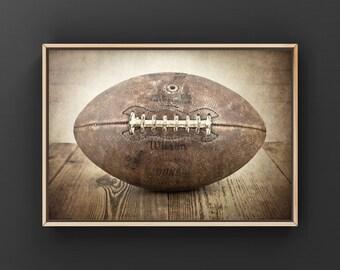 Man Cave Decor Football Wreath Football Gift Football Shape Sign Gifts For Him Fall Football Season Sports Fan Sports Decor