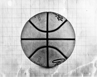 Basketball Photo Print Black And White Decorating Ideas Wall Etsy