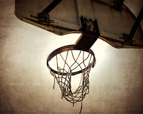 Vintage Basketball Hoop Photo Print Decorating Ideas Wall Etsy