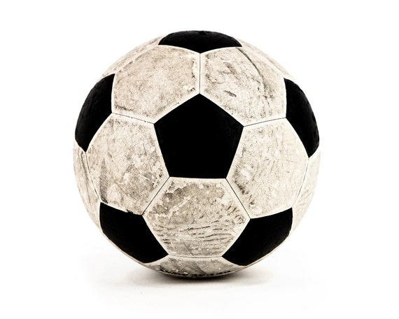 Vintage Soccer Ball On White Photo Print Boys Room Wall Decor Wall Art Man Caveboys Nursery Ideas Gift Ideas