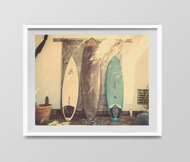 Surf Art Vintage Surfboards Decor Beach Photos