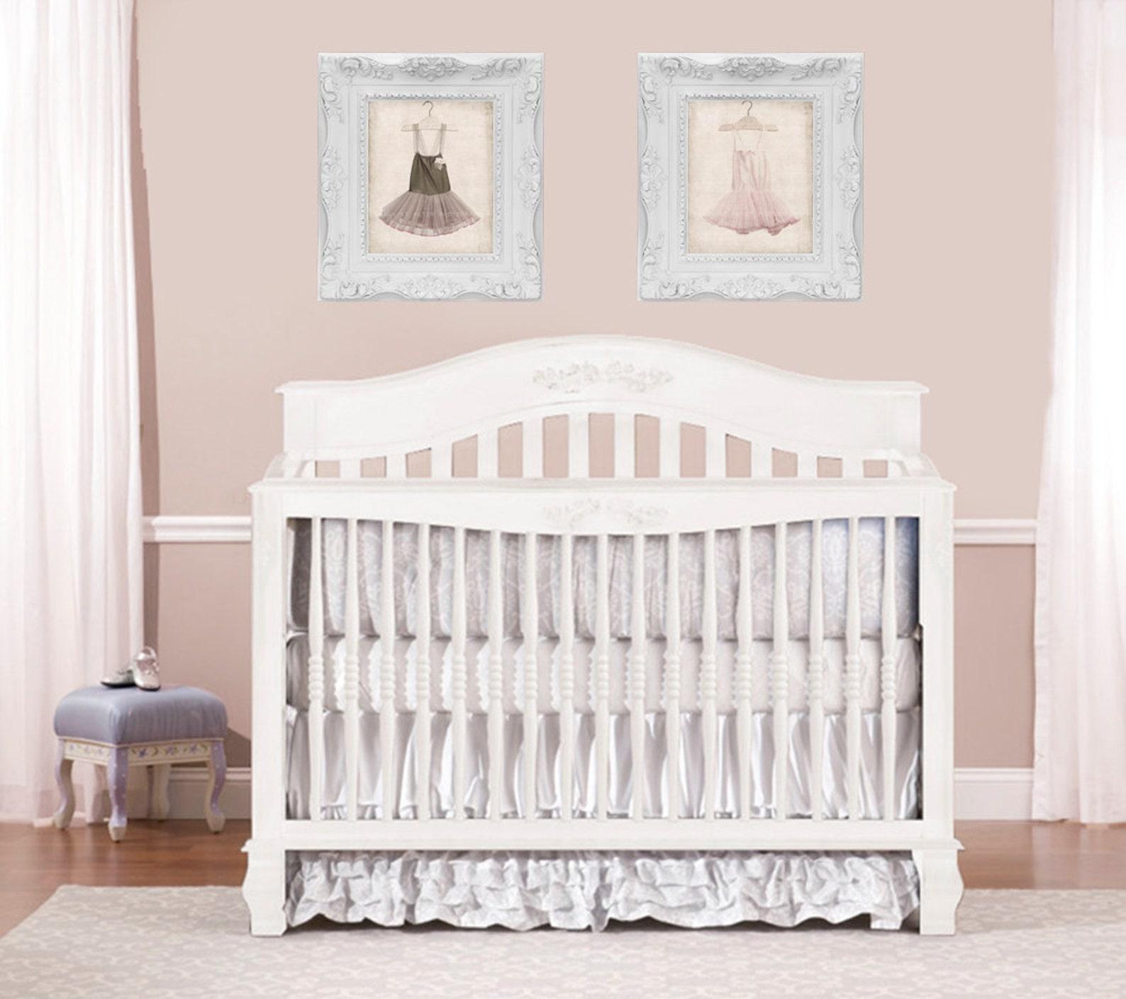 baby girl ballet tutu dress vertical, photo print, girls nursery decor, french decor ballerina girls room prints,