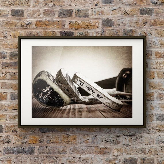 Vintage Golf Club Heads Photo Print Decorating Ideas Wall Etsy