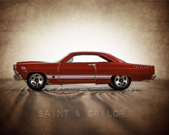 Vintage Muscle Car Photo Print 66 Ford Fairlane Boys Wall Etsy