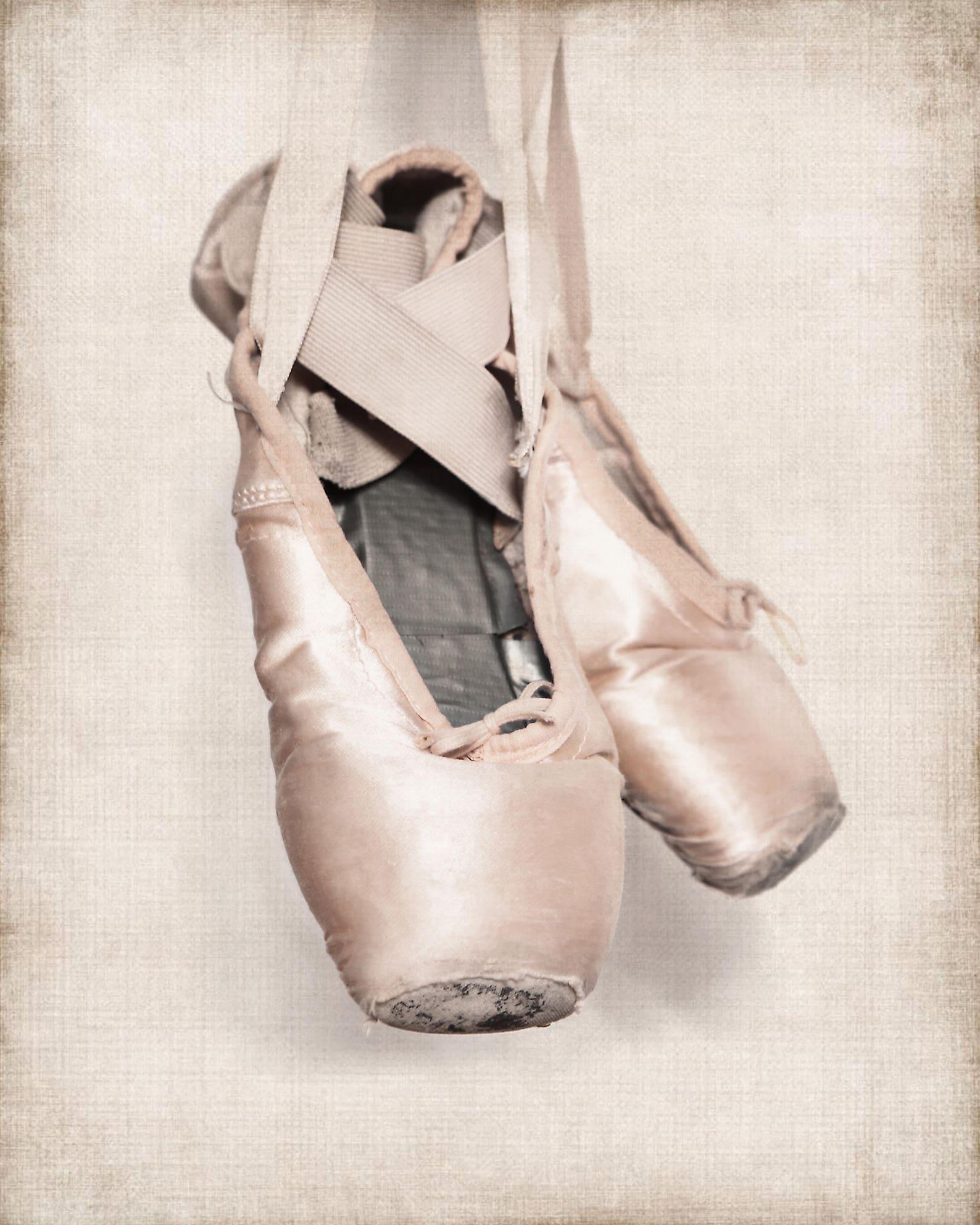 vintage ballet slippers photo print, girls nursery decor, french decor ballerina girls room prints, ballet prints,