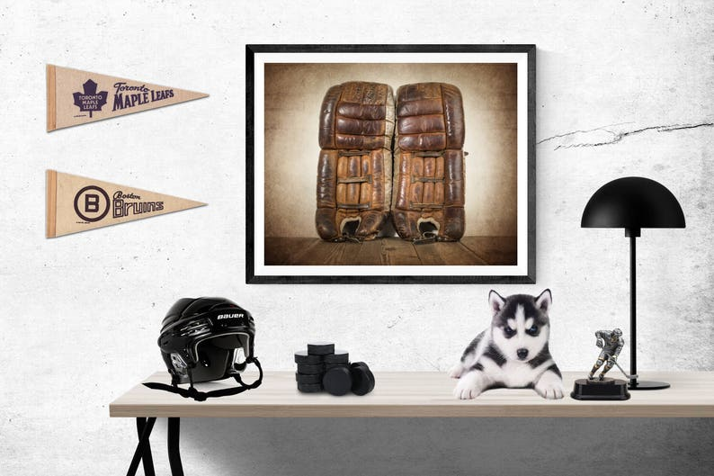 Vintage Hockey Goalie Leg Pads Photo Photo Art Print Boys Etsy