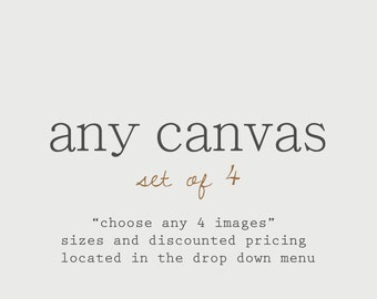 Discounted Set Customize Any Set of 4 Canvas