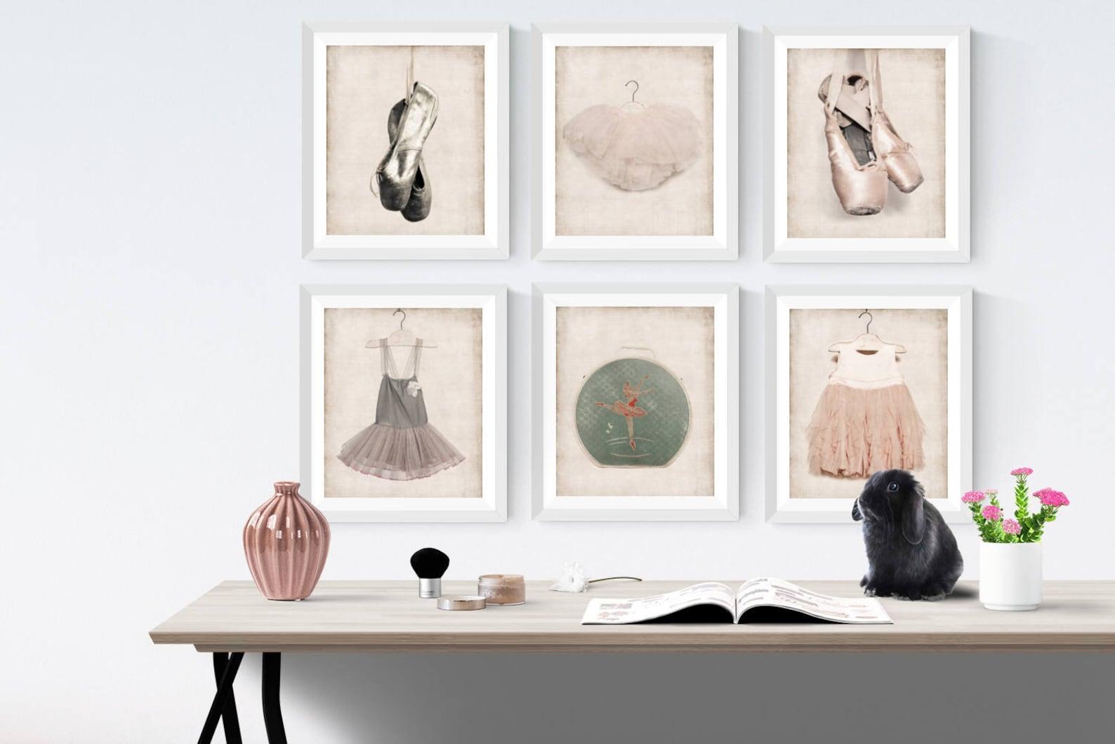 vintage ballet gold slippers photo print, girls nursery decor, french decor ballerina girls room prints, ballet prints,