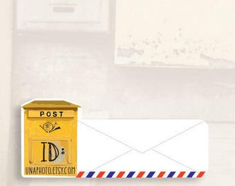 Post BOX - Postcard ID stickers for Postcrossing - Set of 20