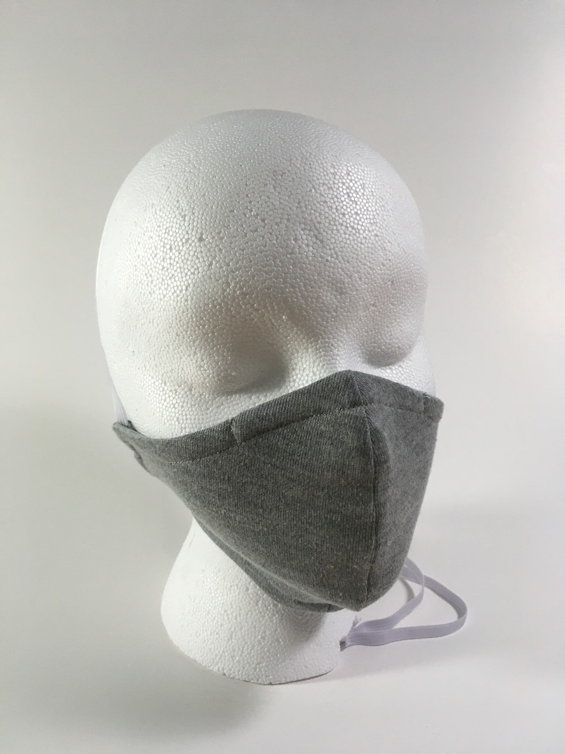 Grey face mask with adjustable straps image 0