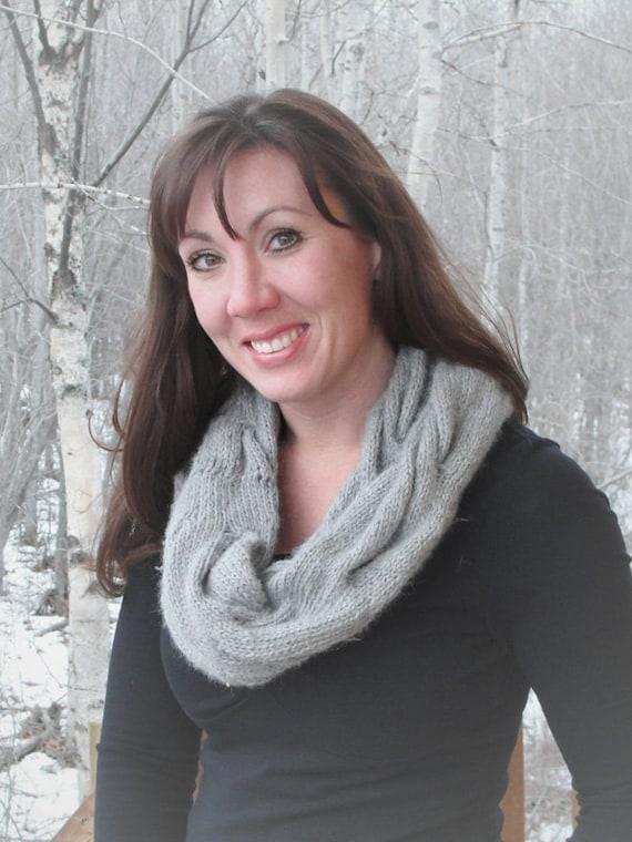 SCHAL MUSTER Haube/Schal stricken Frau verkabelt Alpaka | Etsy
