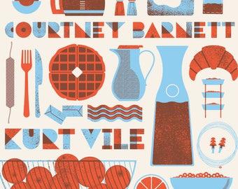 Kurt Vile & Courtney Barnett, screen print Gig Poster