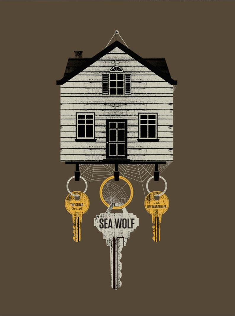 Sea Wolf screen printed gig poster image 0