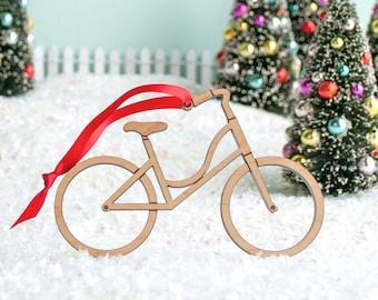 Bicycle Wood Christmas Ornament, Boy Bike or Girl Bike (1)