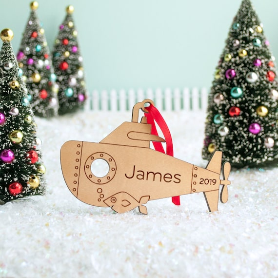 Submarine Christmas 2020 Submarine Christmas Ornament: Personalized Baby's First   Etsy