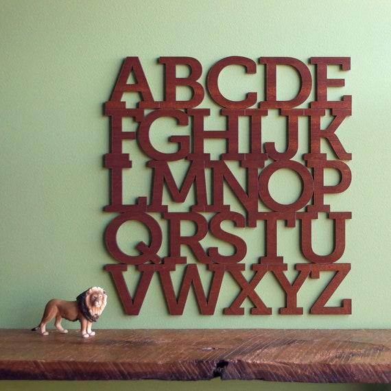 Holz-Alphabet Buchstaben Wandbehang Kinderzimmer Dekor