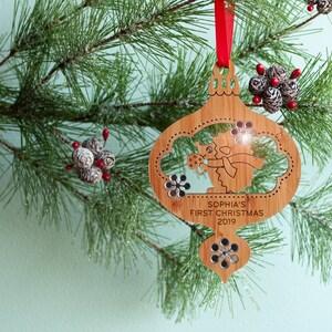 Hedgehog Christmas Ornament 2021 Baby S First Christmas 2021 Ornament Woodland Raccoon Etsy