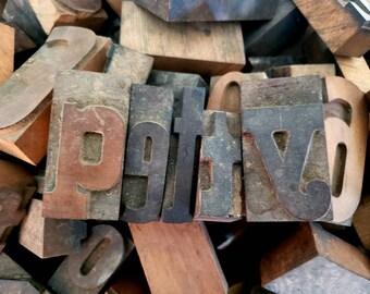 REBECCA 36pt Vintage Metal Letterpress