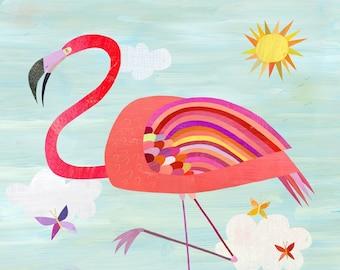 Very Pink Flamingo | Flamingo Art Print, Perfect for Girl's Room, Baby's Nursery or Beach House
