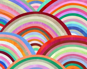 Concentric Circles   Modern Art Print. Geometric Illustration and Pattern.