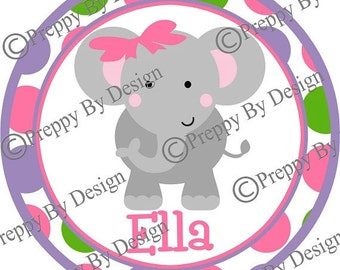 Personalized Elephant T-Shirt, Perfect for Birthdays, Parties, Gifts, Favors, Boys, Girls