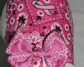 PINK RIBBON BCA Breast Cancer Awareness Country Warrior Harness. Custom made for your Cat, Dog or Ferret.