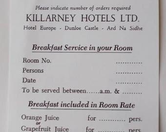 Room Service Menu Etsy