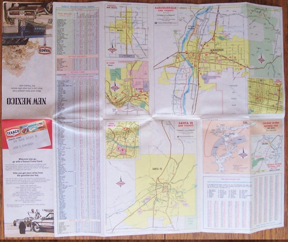 Vintage 1974 TEXACO Road / Highway Map-State of NEW   Etsy