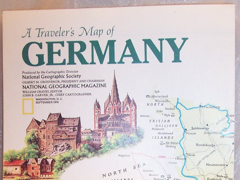 71db3bc9 1991 National Geographic Map-Traveler's Map of | Etsy