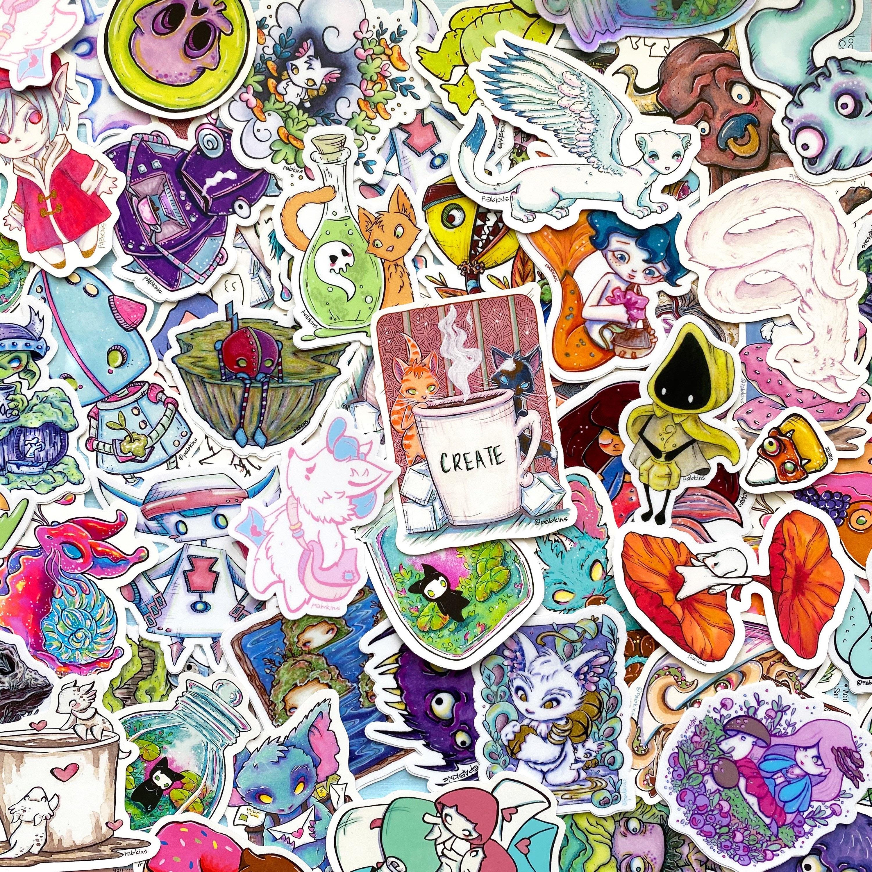 Details about  /The Promised Neverland Sticker Bomb Random Anime Skin Sticker Pack Vinyl 50Pcs
