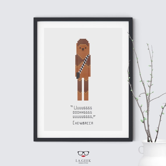 Chewbacca Quote - Star Wars - Cross Stitch Pattern - Instant Download